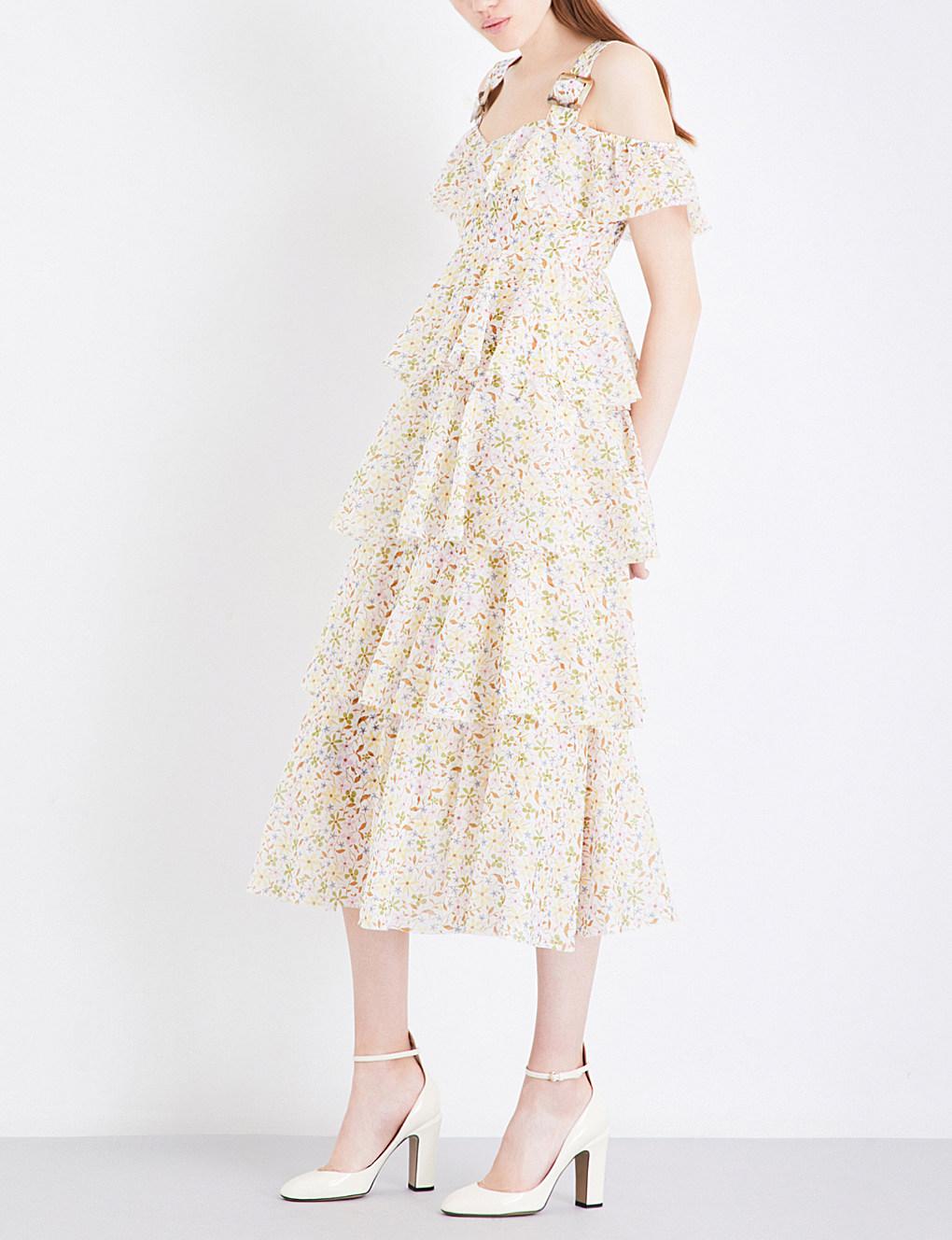 ALEXACHUNG // Tiered Garden Dress