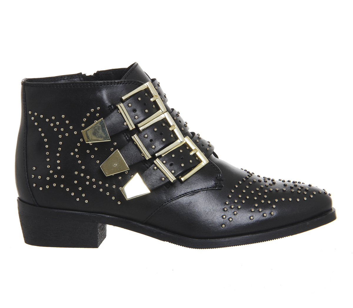 OFFICE     Lucky Charm  Studded Boots – Black   Gold – Never ... f921cfdd4e1