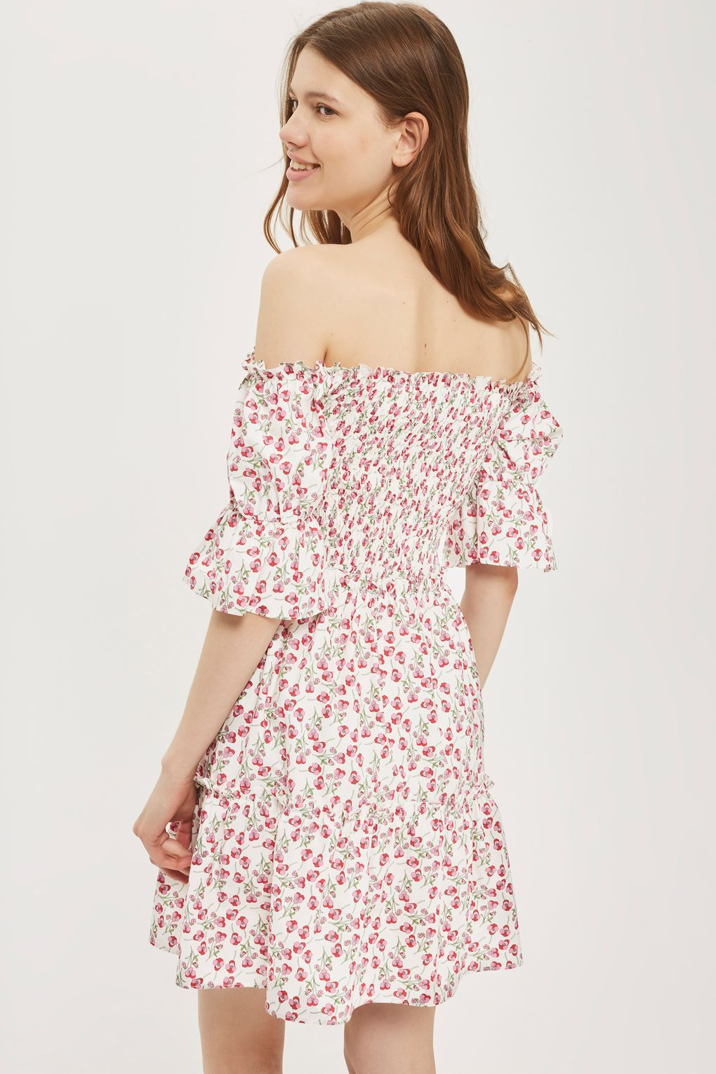 Topshop X Liberty Fabrics Bardot Rose Mini Dress Never