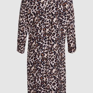 26a0c092d597 NEXT // Animal Print Shirt Dress – Pink – Never Knowingly Concise