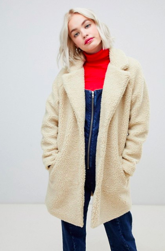ONLY - ASOS - TEDDY COAT - BORG JACKET - £55.00