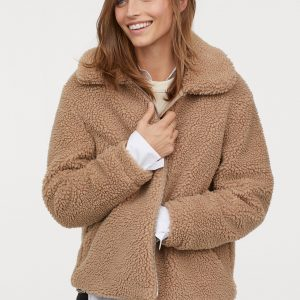 so cheap sold worldwide so cheap H&M // Short Pile Teddy Coat – With Zip – Never Knowingly Concise