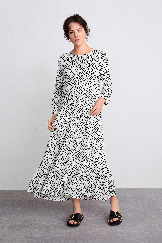 Zara Printed Polka Dot Maxi Dress Never Knowingly Concise